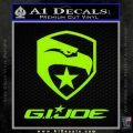 GI Joe Decal Sticker Movie Lime Green Vinyl 120x120