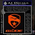 GI Joe Decal Sticker Movie Orange Emblem 120x120