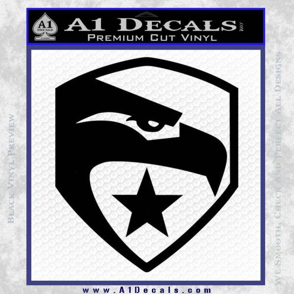 GI Joe Decal Sticker Shield Black Vinyl