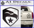 GI Joe Decal Sticker Shield Carbon FIber Black Vinyl 120x97
