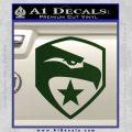GI Joe Decal Sticker Shield Dark Green Vinyl 120x120