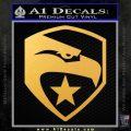 GI Joe Decal Sticker Shield Gold Vinyl 120x120