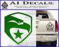 GI Joe Decal Sticker Shield Green Vinyl Logo 120x97