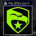 GI Joe Decal Sticker Shield Lime Green Vinyl 120x120