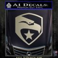 GI Joe Decal Sticker Shield Metallic Silver Emblem 120x120