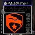 GI Joe Decal Sticker Shield Orange Emblem 120x120