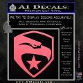 GI Joe Decal Sticker Shield Pink Emblem 120x120