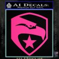 GI Joe Decal Sticker Shield Pink Hot Vinyl 120x120