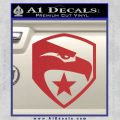 GI Joe Decal Sticker Shield Red 120x120