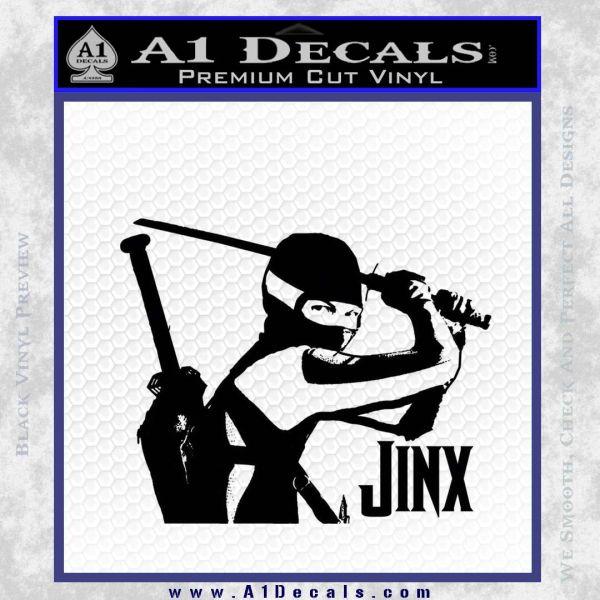 GI Joe Retaliation Jinx Ninja Decal Sticker Black Vinyl