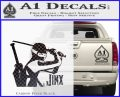 GI Joe Retaliation Jinx Ninja Decal Sticker Carbon FIber Black Vinyl 120x97