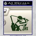GI Joe Retaliation Jinx Ninja Decal Sticker Dark Green Vinyl 120x120