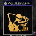 GI Joe Retaliation Jinx Ninja Decal Sticker Gold Vinyl 120x120
