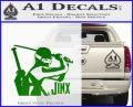 GI Joe Retaliation Jinx Ninja Decal Sticker Green Vinyl Logo 120x97