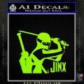 GI Joe Retaliation Jinx Ninja Decal Sticker Lime Green Vinyl 120x120