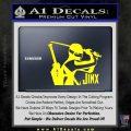 GI Joe Retaliation Jinx Ninja Decal Sticker Yellow Laptop 120x120