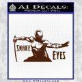 GI Joe Retaliation Snake Eyes Ninja Decal Sticker BROWN Vinyl 120x120