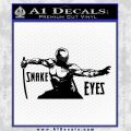 GI Joe Retaliation Snake Eyes Ninja Decal Sticker Black Vinyl 120x120