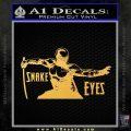 GI Joe Retaliation Snake Eyes Ninja Decal Sticker Gold Vinyl 120x120
