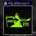 GI Joe Retaliation Snake Eyes Ninja Decal Sticker Lime Green Vinyl 120x120