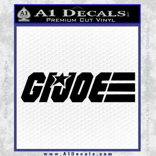 GI Joe Wide Decal Sticker Black Vinyl