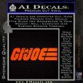GI Joe Wide Decal Sticker Orange Emblem 120x120