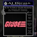 GI Joe Wide Decal Sticker Pink Emblem 120x120