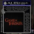 Game Of Throne Title Logo Decal Sticker Orange Emblem 120x120