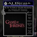 Game Of Throne Title Logo Decal Sticker Pink Emblem 120x120