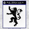 Game Of Thrones Decal Sticker House Lannister Black Vinyl 120x120