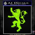 Game Of Thrones Decal Sticker House Lannister Lime Green Vinyl 120x120