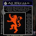 Game Of Thrones Decal Sticker House Lannister Orange Emblem 120x120