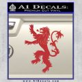 Game Of Thrones Decal Sticker House Lannister Red 120x120