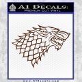 Game Of Thrones Decal Sticker House Stark BROWN Vinyl 120x120