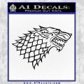 Game Of Thrones Decal Sticker House Stark Black Vinyl 120x120