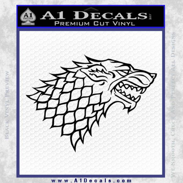 Game Of Thrones Decal Sticker House Stark Black Vinyl