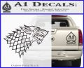 Game Of Thrones Decal Sticker House Stark Carbon FIber Black Vinyl 120x97