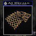Game Of Thrones Decal Sticker House Stark Gold Vinyl 120x120