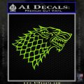 Game Of Thrones Decal Sticker House Stark Lime Green Vinyl 120x120
