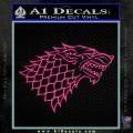 Game Of Thrones Decal Sticker House Stark Pink Hot Vinyl 120x120