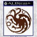 Game Of Thrones Decal Sticker House Targaryen BROWN Vinyl 120x120