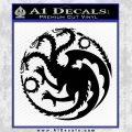Game Of Thrones Decal Sticker House Targaryen Black Vinyl 120x120