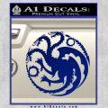 Game Of Thrones Decal Sticker House Targaryen Blue Vinyl 120x120