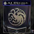 Game Of Thrones Decal Sticker House Targaryen Carbon FIber Chrome Vinyl 120x120
