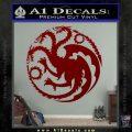 Game Of Thrones Decal Sticker House Targaryen DRD Vinyl 120x120