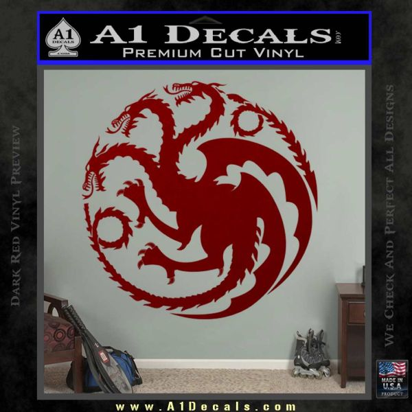 Game Of Thrones Decal Sticker House Targaryen DRD Vinyl