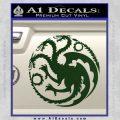 Game Of Thrones Decal Sticker House Targaryen Dark Green Vinyl 120x120