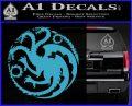 Game Of Thrones Decal Sticker House Targaryen Light Blue Vinyl 120x97