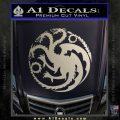 Game Of Thrones Decal Sticker House Targaryen Metallic Silver Emblem 120x120