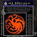 Game Of Thrones Decal Sticker House Targaryen Orange Emblem 120x120